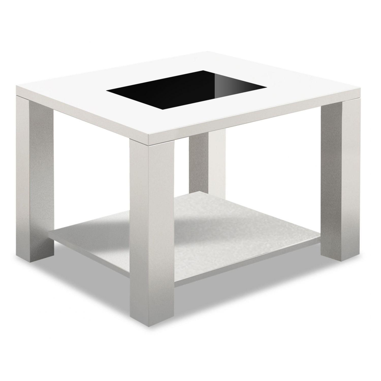 mesa de rincón económica y moderna blanco/negro