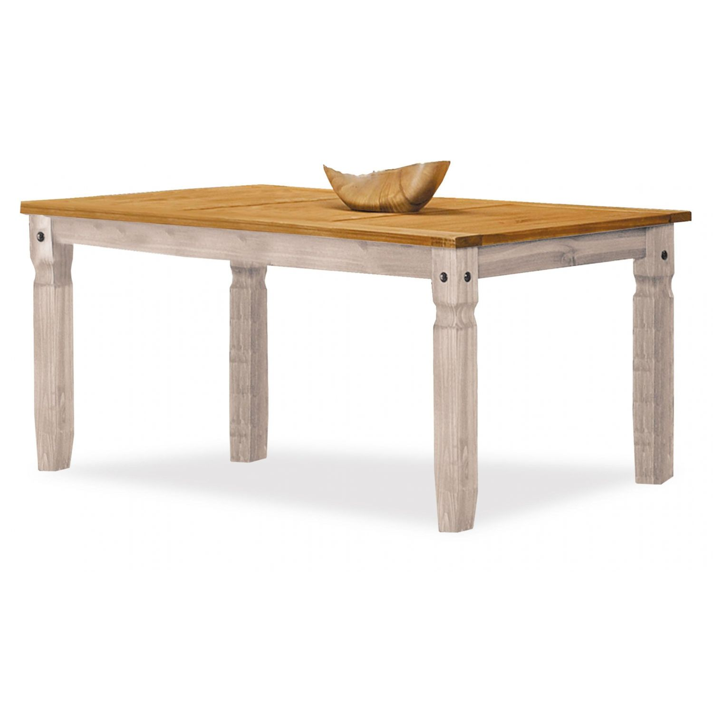 Mesa de comedor rústica extensible