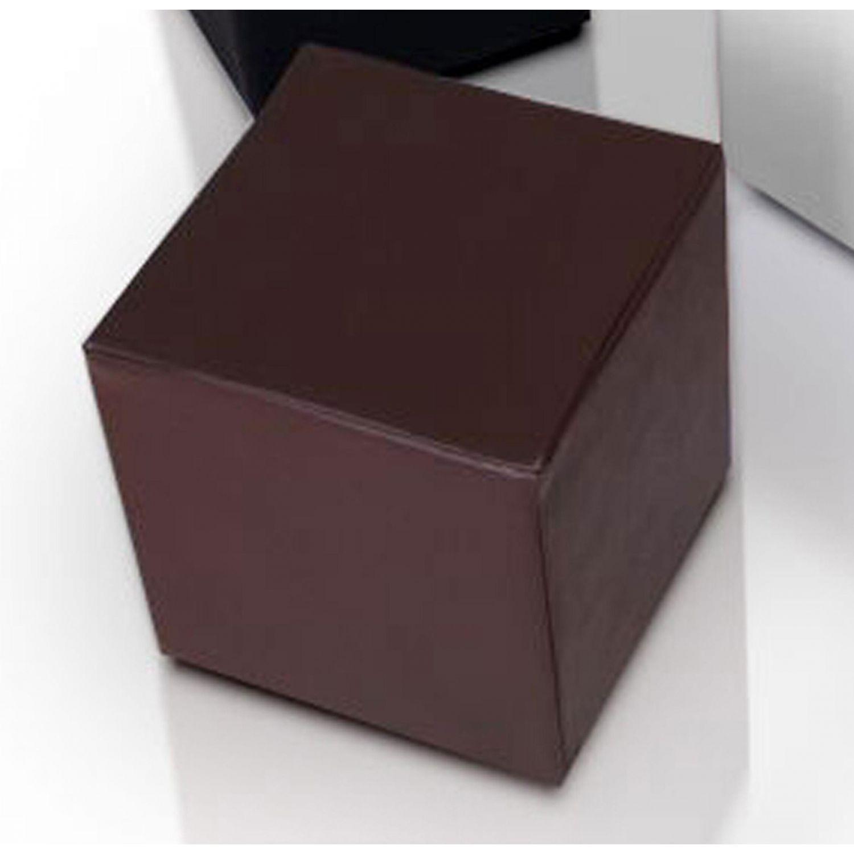 Puf taburete polipiel chocolate 35 cm x 35 cm