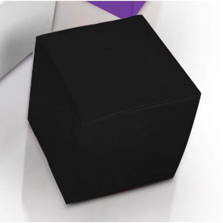 Puf taburete polipiel negro 35 cm x 35 cm
