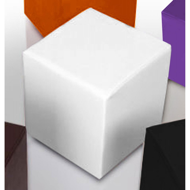 Puf taburete polipiel blanco 35 cm x 35 cm