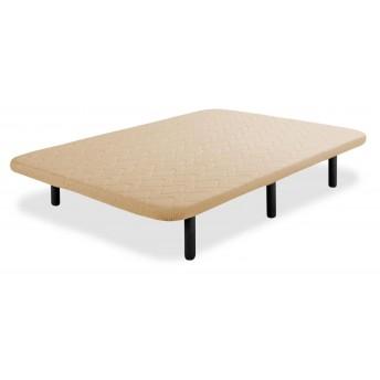 Base tapizada barata beige 150x190 (sin patas)
