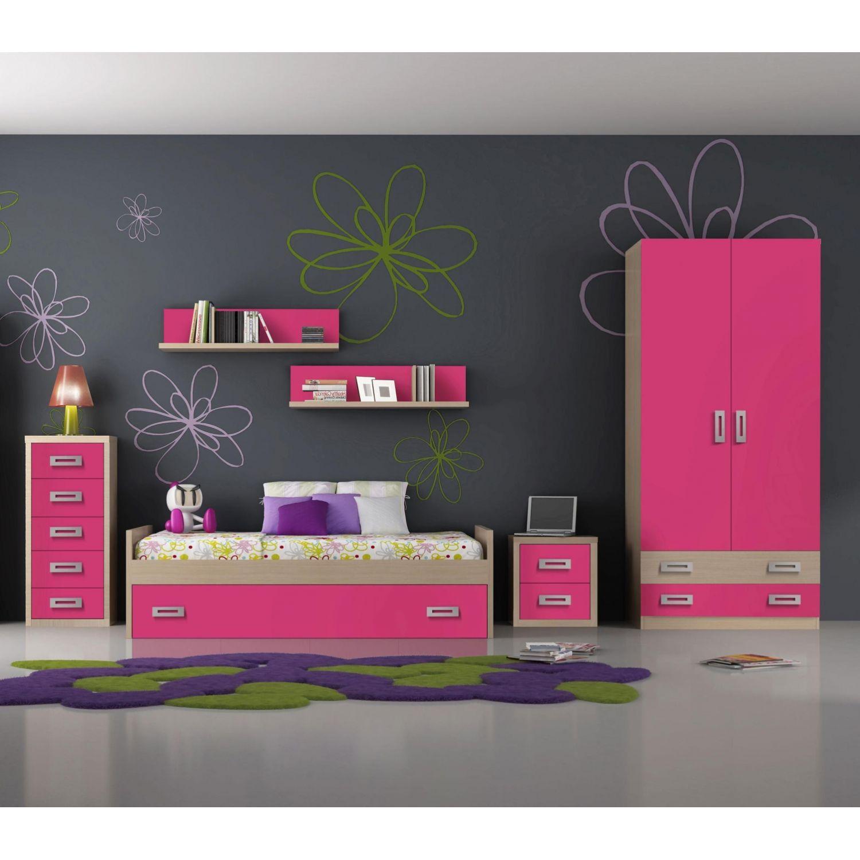 Nido juvenil buen precio diseño con cama nido 202 cm. (Opcionales diáfanos,sinfonier,mesita,armario y somier de arrastre)