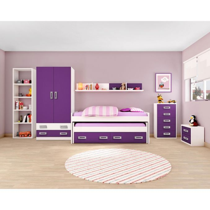 cama compacta buen precio juvenil opcionales di fanos