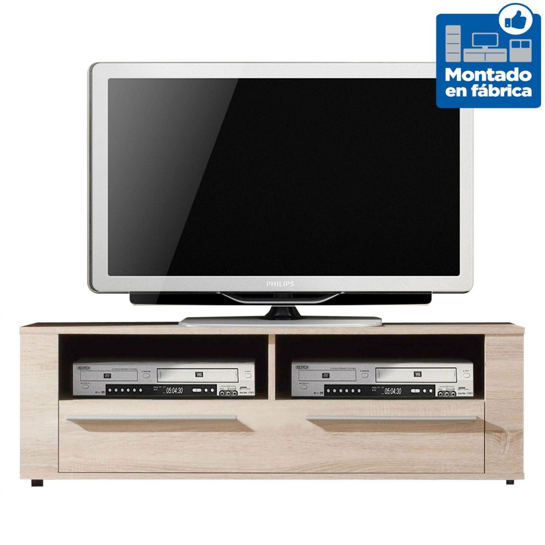 Mesa TV barata diseño moderno roble