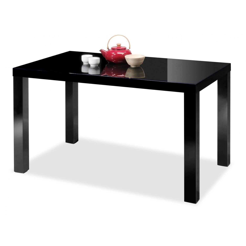 Mesa barata diseño moderno negra fija 140 cm.