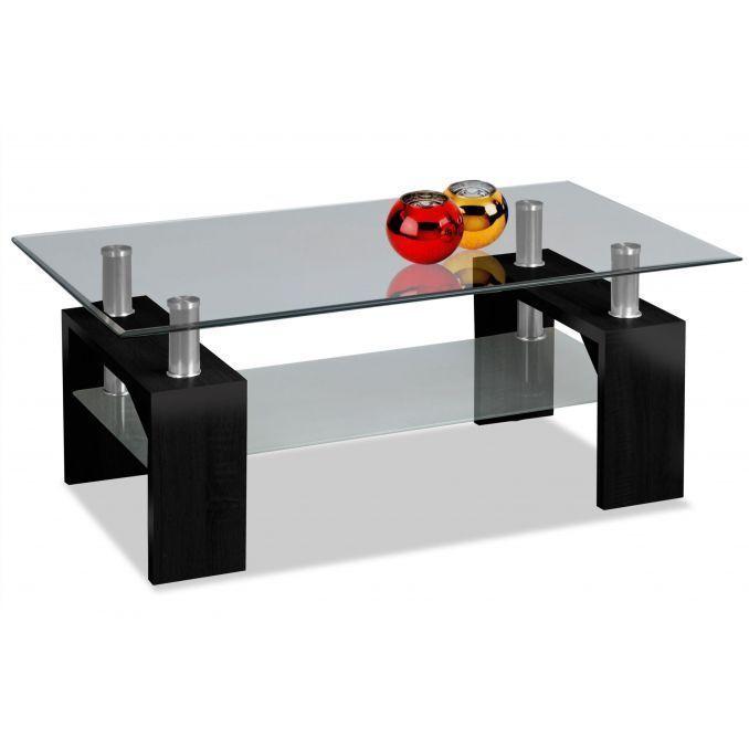 Mesa de centro barata diseño moderno negra 100 cm Ancho moderno