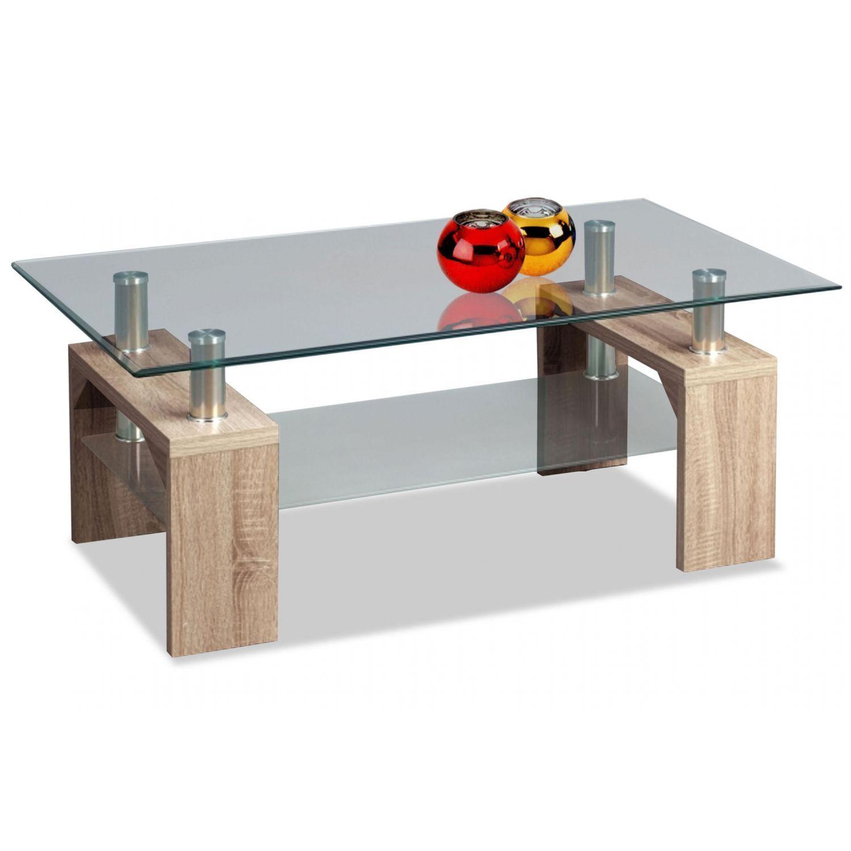 Mesa de centro barata diseño moderno roble 100 cm Ancho moderno
