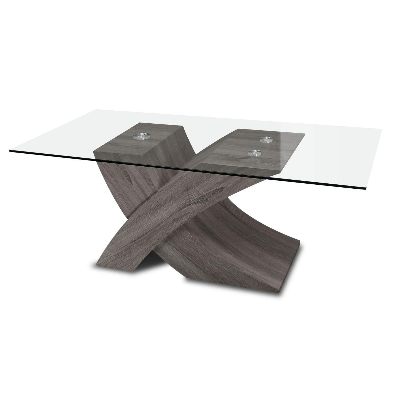 Mesa centro moderno buen precio ceniza 110 cm de ancho