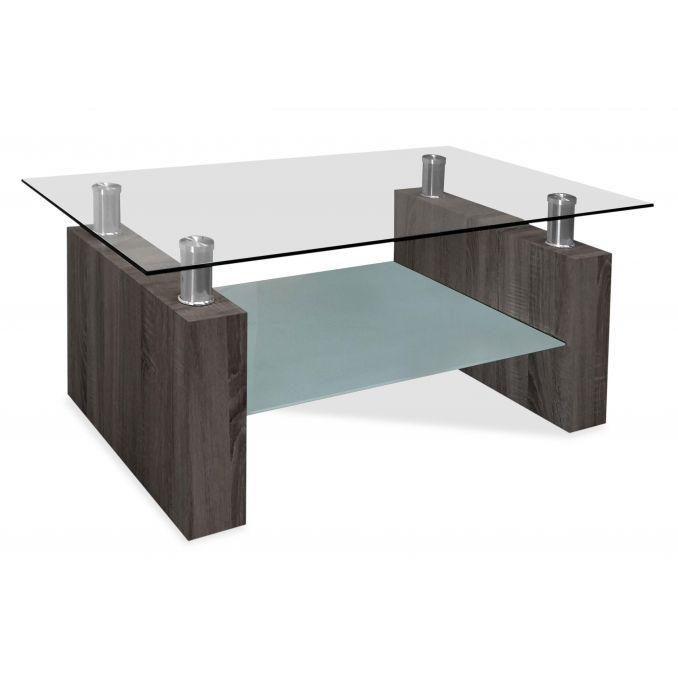 Mesa de centro buen precio moderno ceniza 105 cm Ancho x 60 cm Fondo
