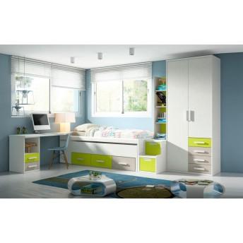 Dormitorios juveniles e infantiles baratos muebles online for Compactos juveniles baratos