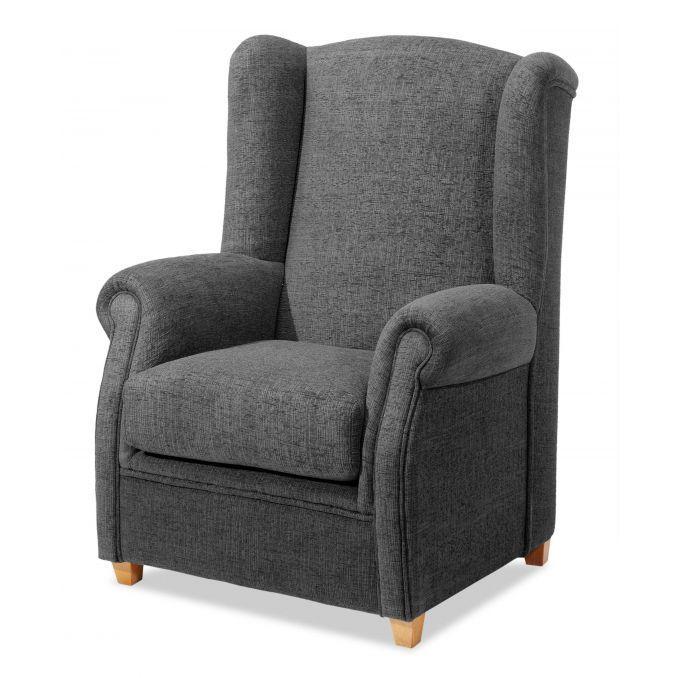 Sill n orejero buen precio dise o actual gris marengo - Sofa gris marengo ...