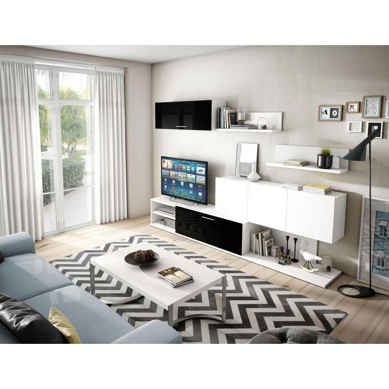 Econ Mico Dise O Moderno Blanco Negro 260 Cm  # Muebles Momento Actual