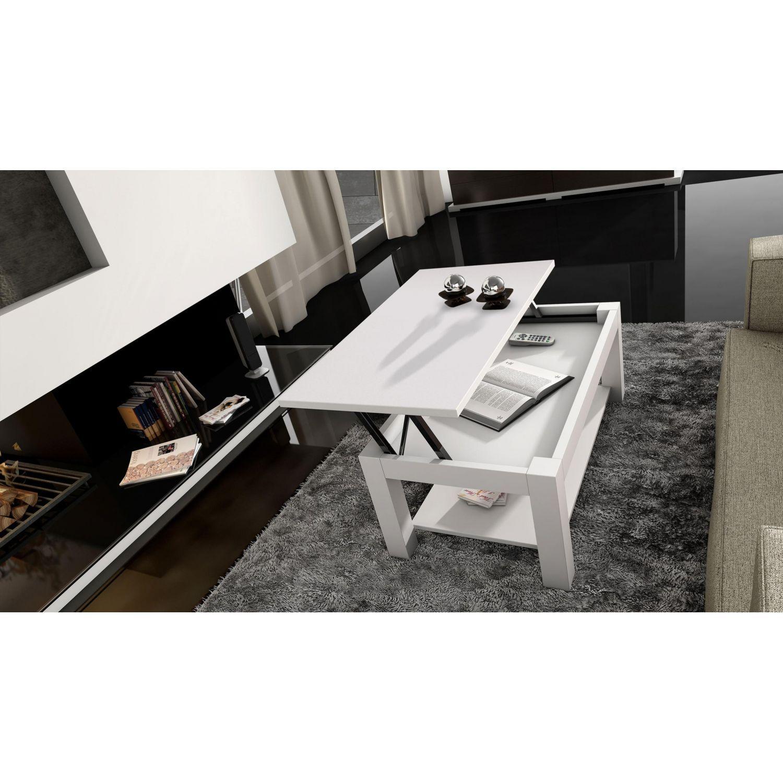 Mesa de centro económica lisa blanca 101 cm Ancho moderno