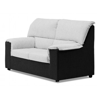 Sof 2 plazas barato negro blanco 125 cm for Sofa blanco barato