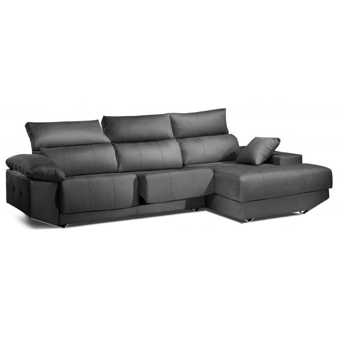 chaiselongue calidad gris reclinable extensible 260 cm. Black Bedroom Furniture Sets. Home Design Ideas