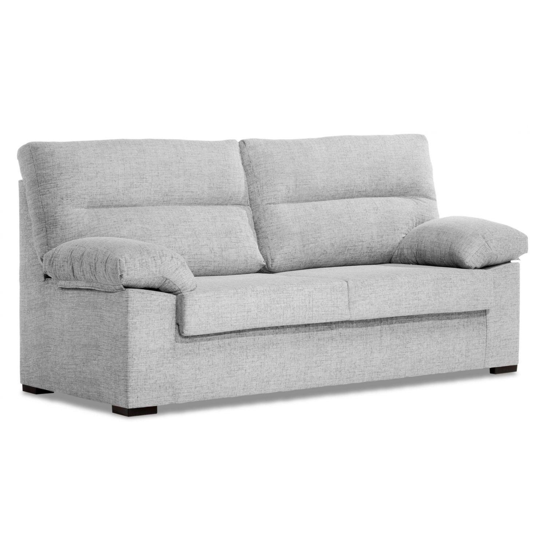 Sofá barato 3 plazas blanco roto desenfundable 170 cm