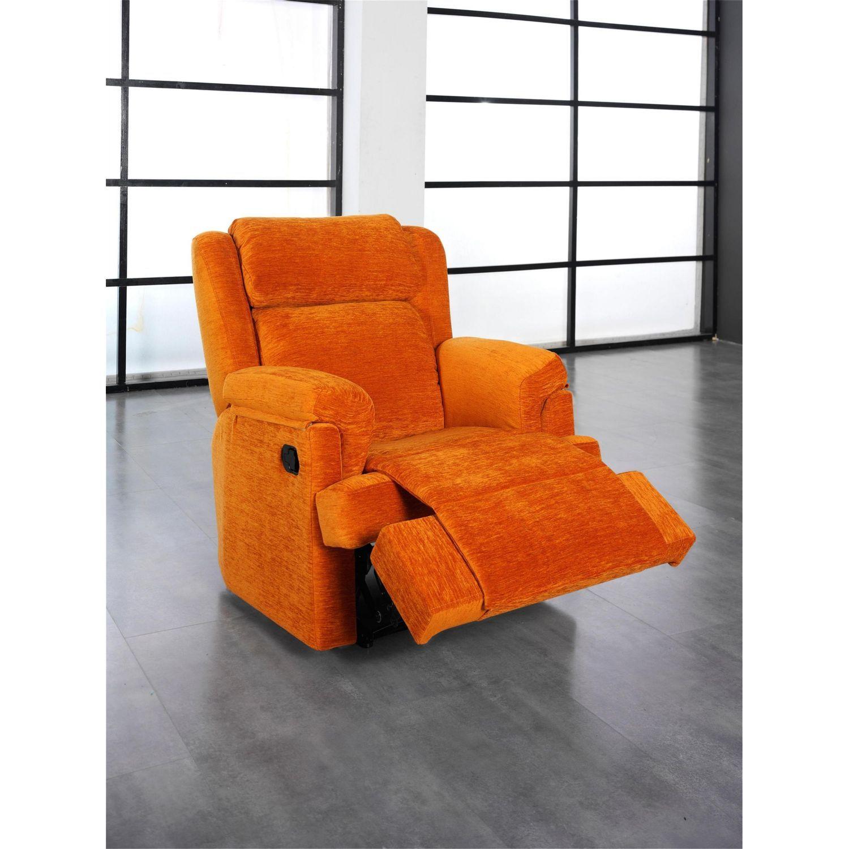 Sillón relax buen precio en color naranja