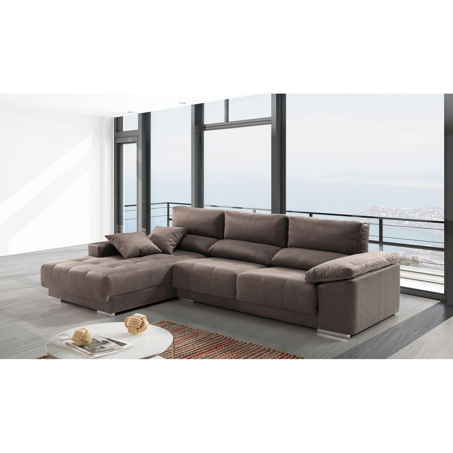 Chaislongue alta gama extensible reclinable anti manchas - Sofas alta gama ...