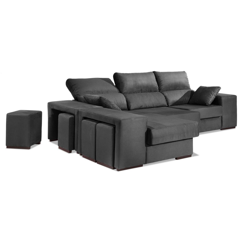 Chaise Longue Buen Precio Gris Multi Puf Reclinable Y Extensible Con ~ Cuanto Cuesta Tapizar Un Sofa Chaise Longue
