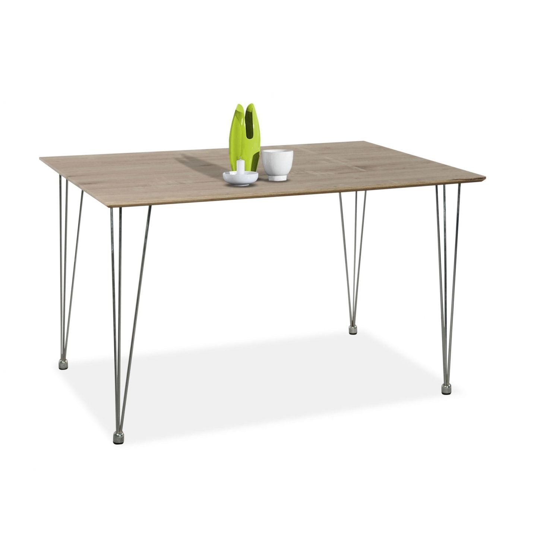 Mesa comedor econ mica modelo eko color roble con patas for Mesas de comedor rectangulares