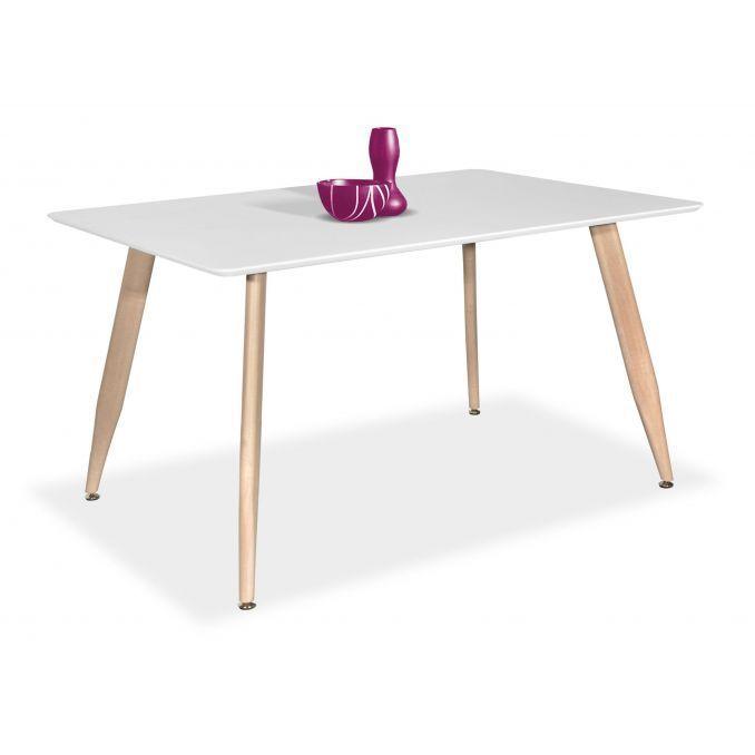 Mesa comedor econ mica dise o n rdico roble blanco 120 cm for Mesa comedor economica