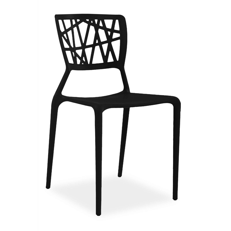 Silla calidad, diseño moderno en color negro. (Va en cajas de 4 Unid.)