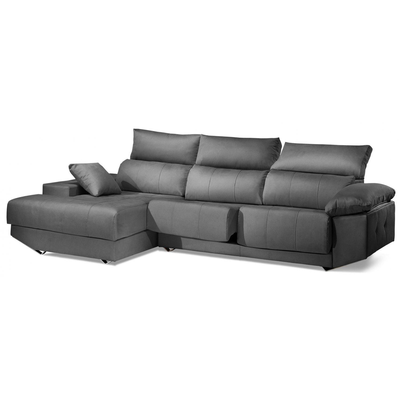 Chaiselongue reclinable extensible calidad excelente precio gris. 287cm.