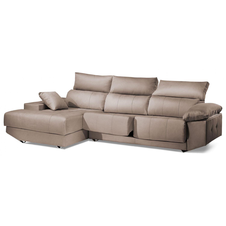 Chaiselongue reclinable extensible calidad excelente precio beige. 287 cm.