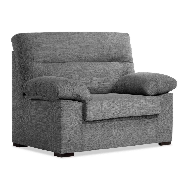 Sofá 1 plaza buen precio gris desenfundable 100 cm