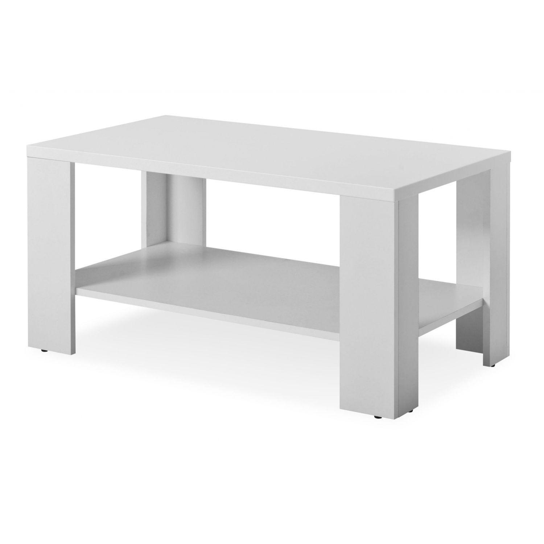 Mesa centro económica color blanco 90 cm Ancho moderno