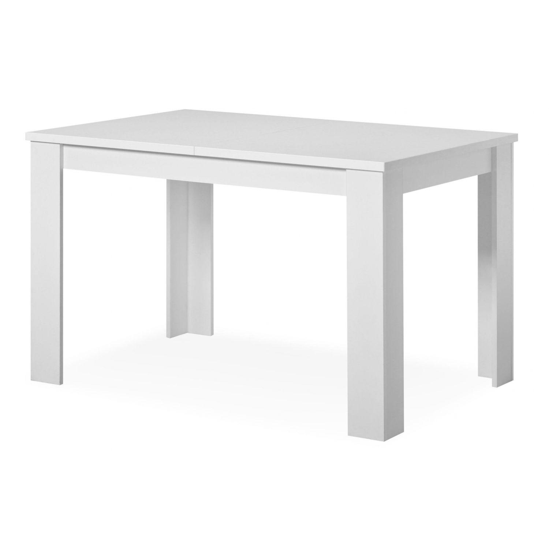 Mesa comedor buen precio 120 cm blanco extensible 153 cm for Mesas y sillas de comedor en carrefour