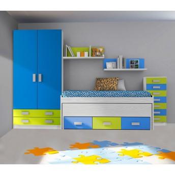 Dormitorios juveniles e infantiles baratos muebles online for Dormitorios ahorro total