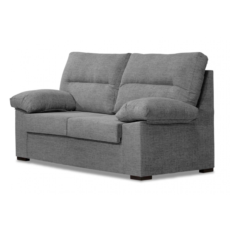 Sofá económico gris 2 plazas 140cm
