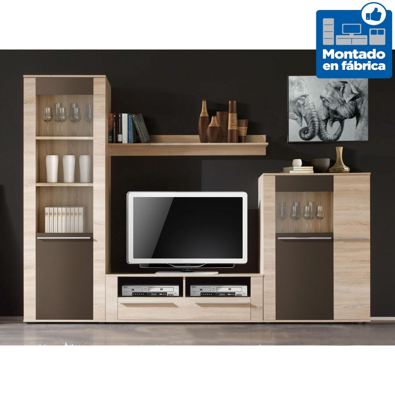 Apilable de sal n econ mico dise o moderno 180 cm mueble for Mueble salon 180 cm