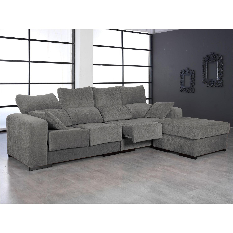Chaise longue buen precio dise o actual color gris for Sofas de calidad a buen precio
