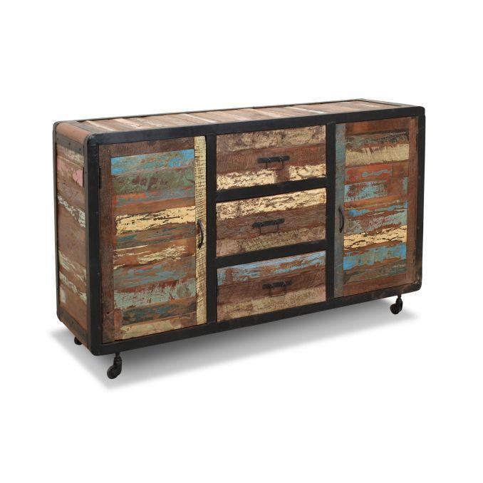 Aparador r stico colonial en madera maciza - Mueble rustico colonial ...