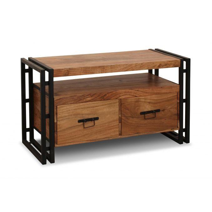 Mesa Tv estilo rústico colonial madera maciza