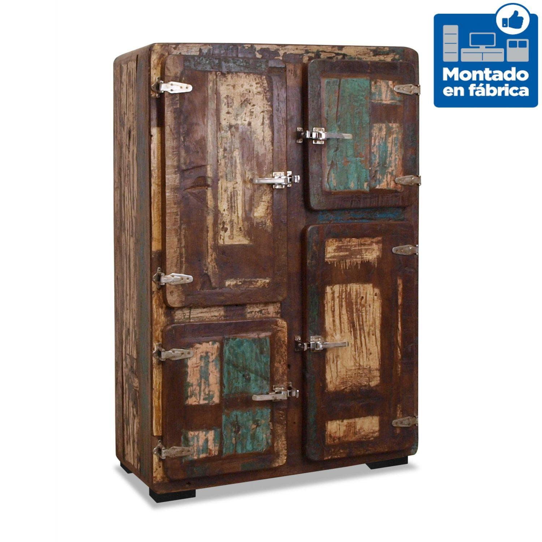 Mueble sal n estilo r stico colonial vintage en madera maciza - Muebles de salon estilo vintage ...