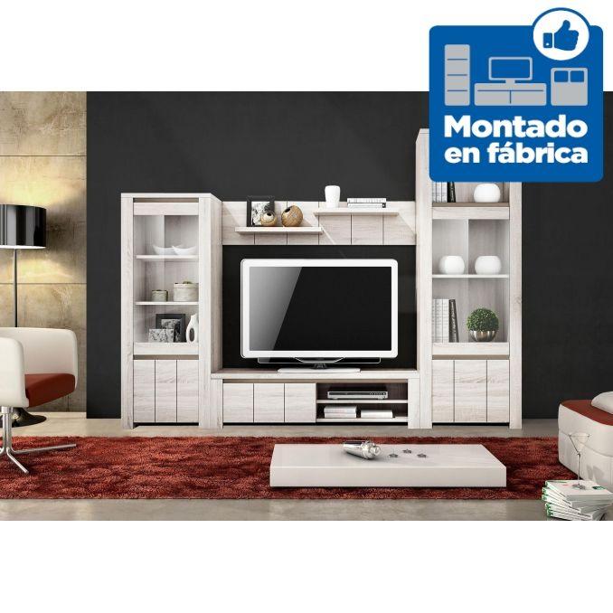 Salón moderno 250 cm. colores blanco Nordic / Shamal