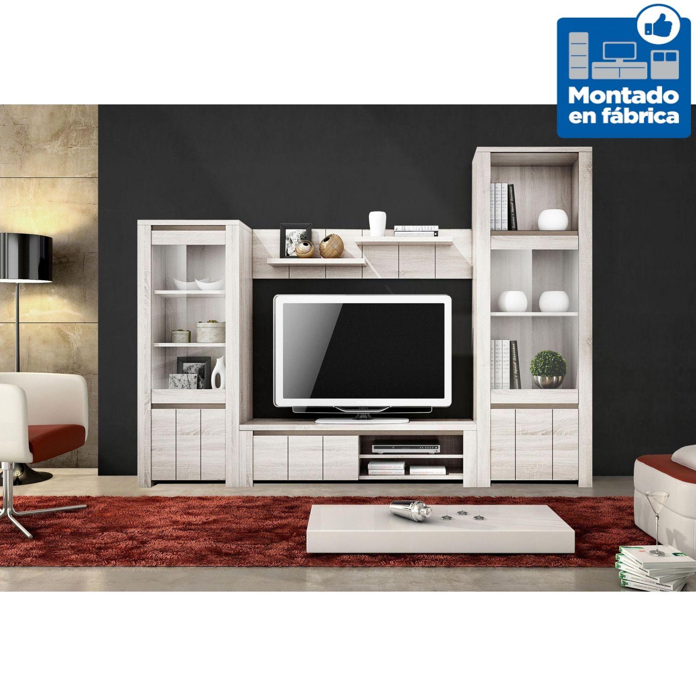 Sal n moderno 250 cm colores blanco nordic shamal - Salon moderno blanco ...