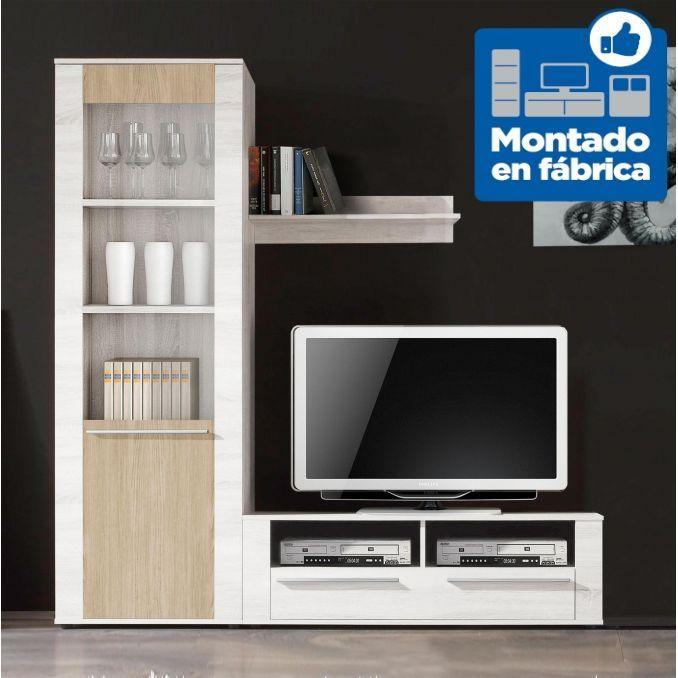 Mueble sal n econ mico nordic y shamal 200cm for Mueble tv economico