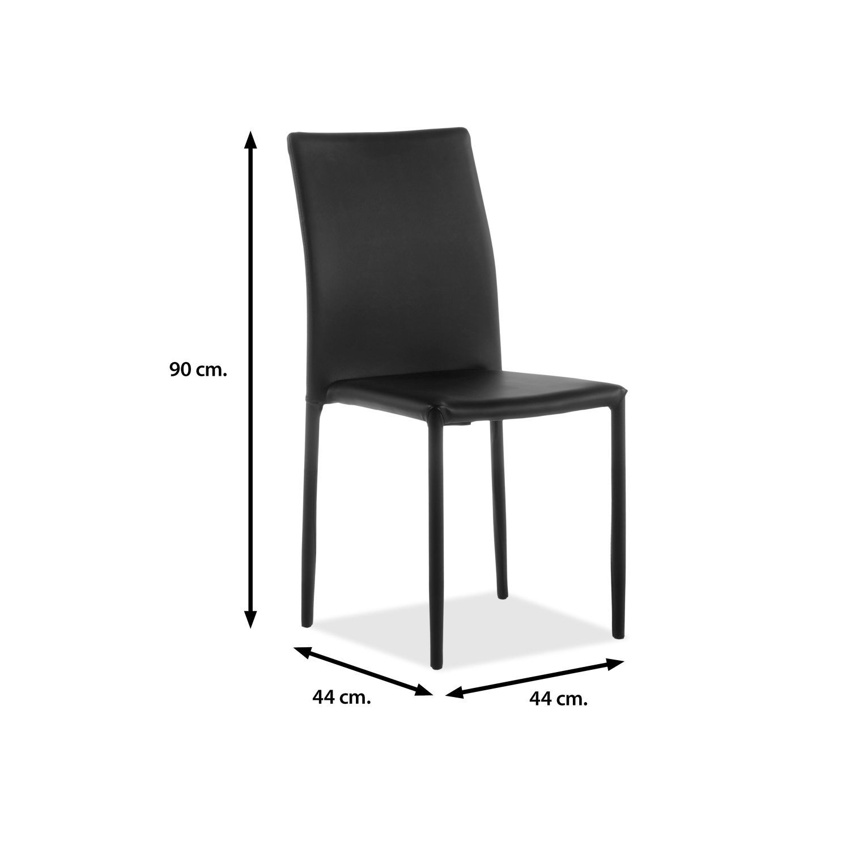 Sillas comedor baratas silla de comedor estilo nrdico con for Sillas comedor negras baratas