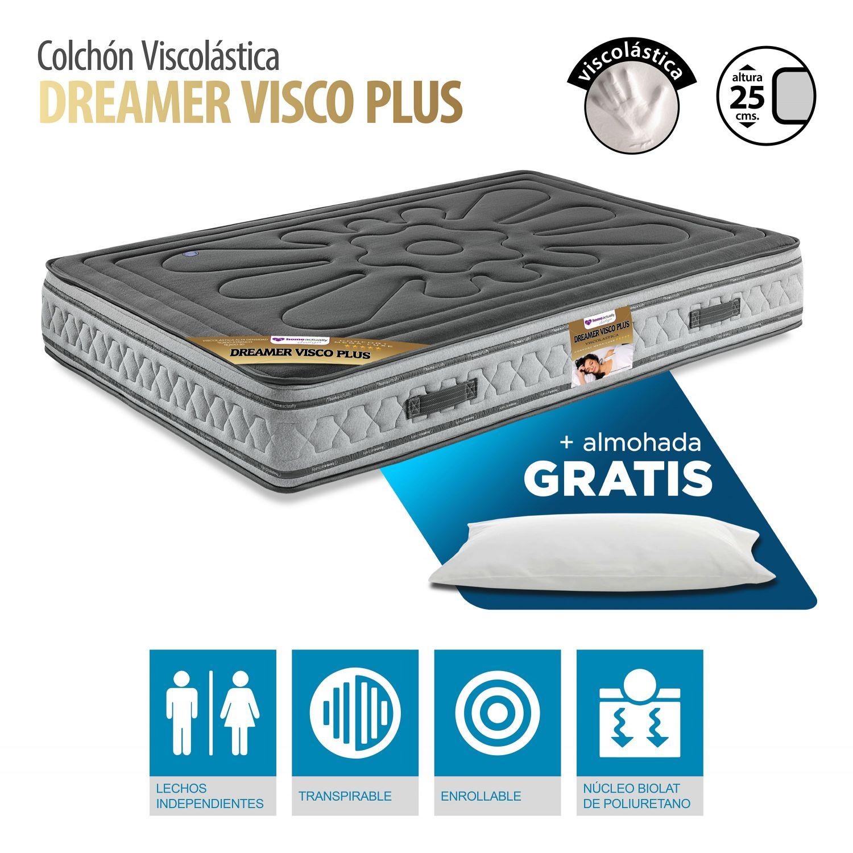 Colchón Visco elástica moderno 105X190 buen precio con almohada GRATIS