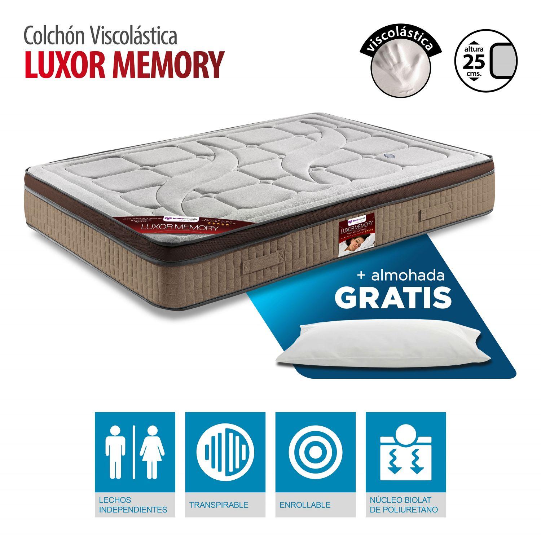 Colchón visco lástica buen precio 90x180 con almohada GRATIS. Altura 25 cm