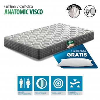 Colchón Viscoelástico gran confort 105x190 con almohada GRATIS. Altura 23 cm