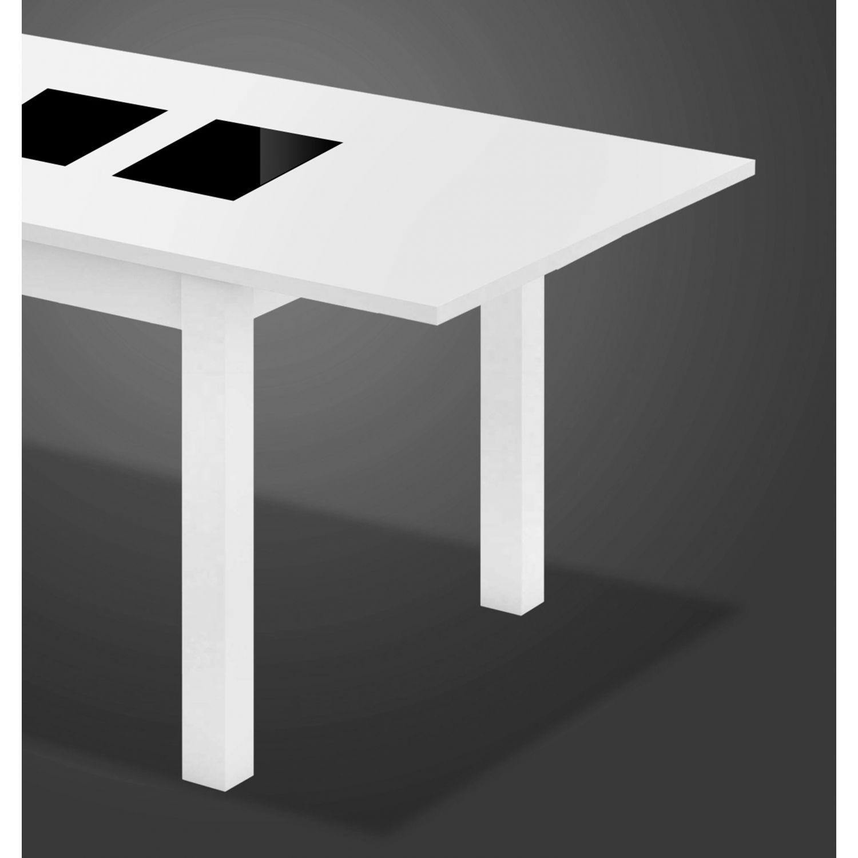 Mesa econ mica dise o extensible blanco negro 150 cm - Mesa extensible diseno ...