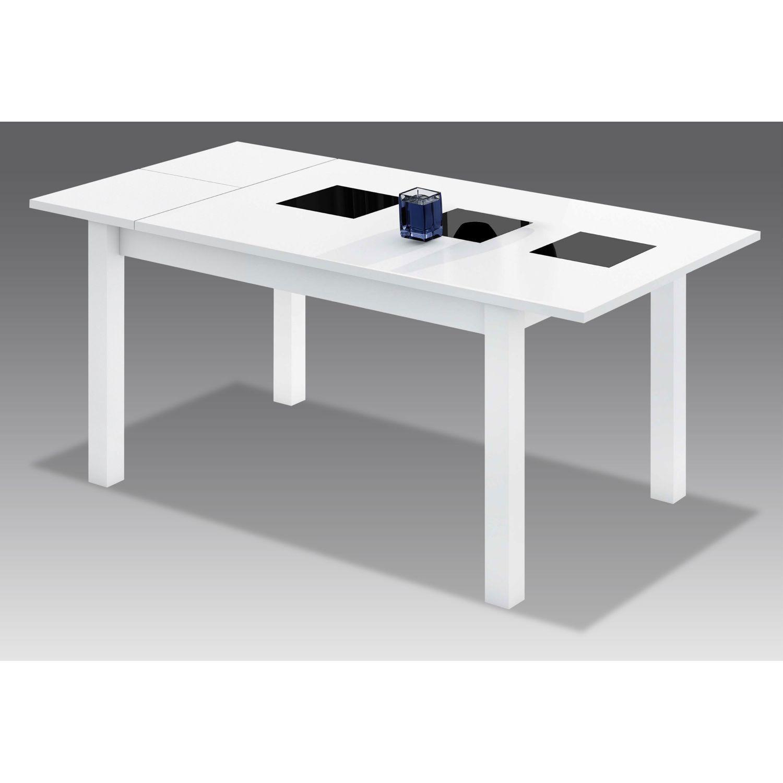 Mesa comedor extensible buen precio actual blanca con tres for Precio mesa comedor