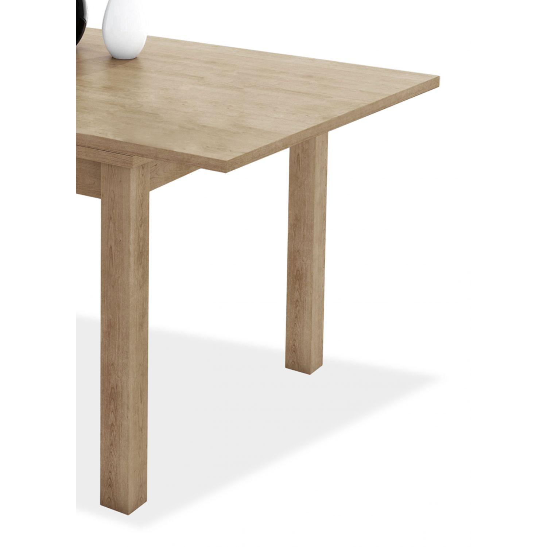 Mesa comedor extensible buen precio diseño actual roble 90 cm.