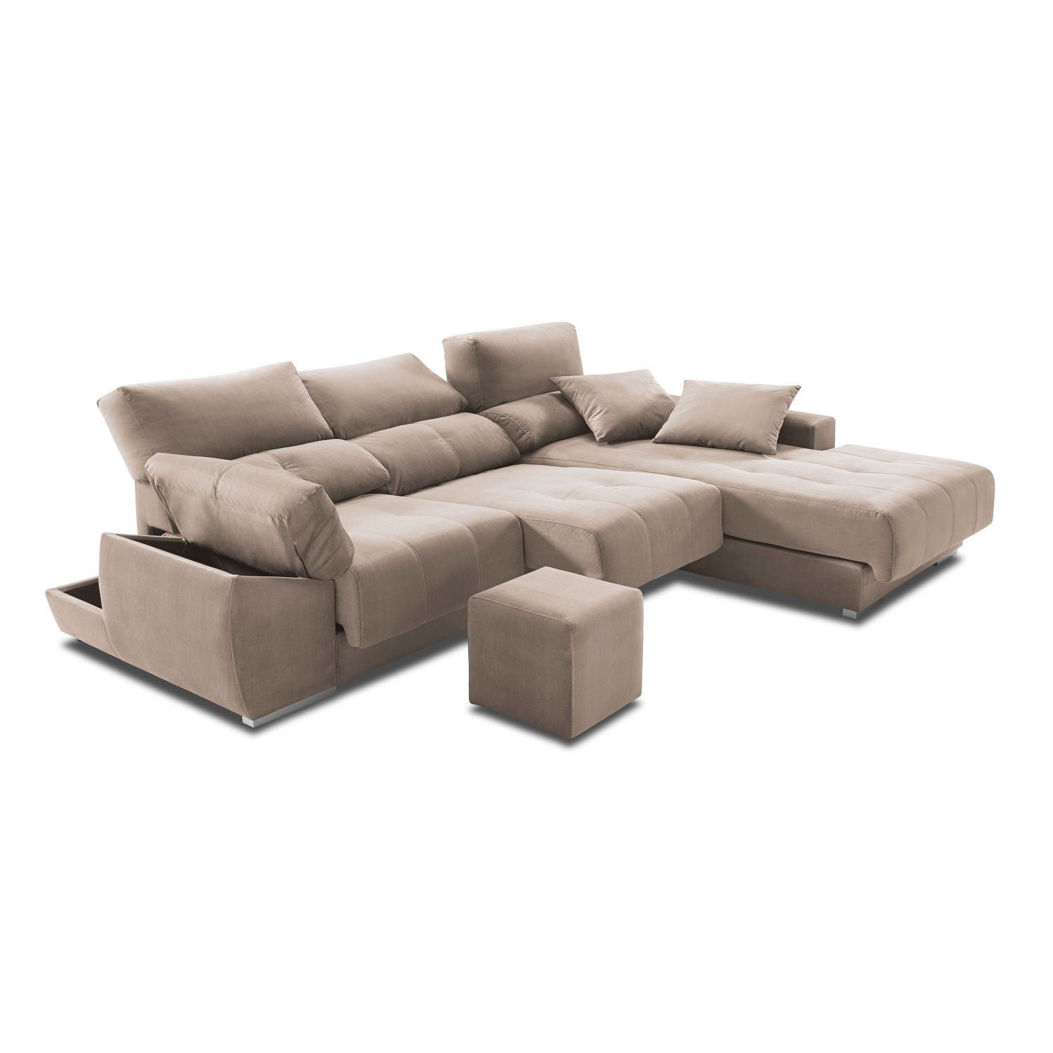 Chaise longue alta gama extensible reclinable con - Sofas alta gama ...